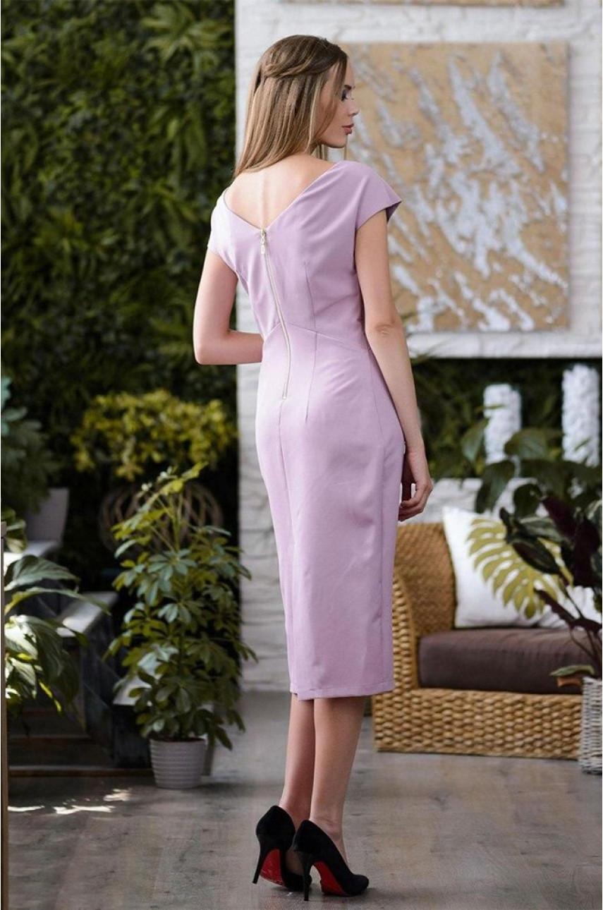 Женское платье пудра 2793