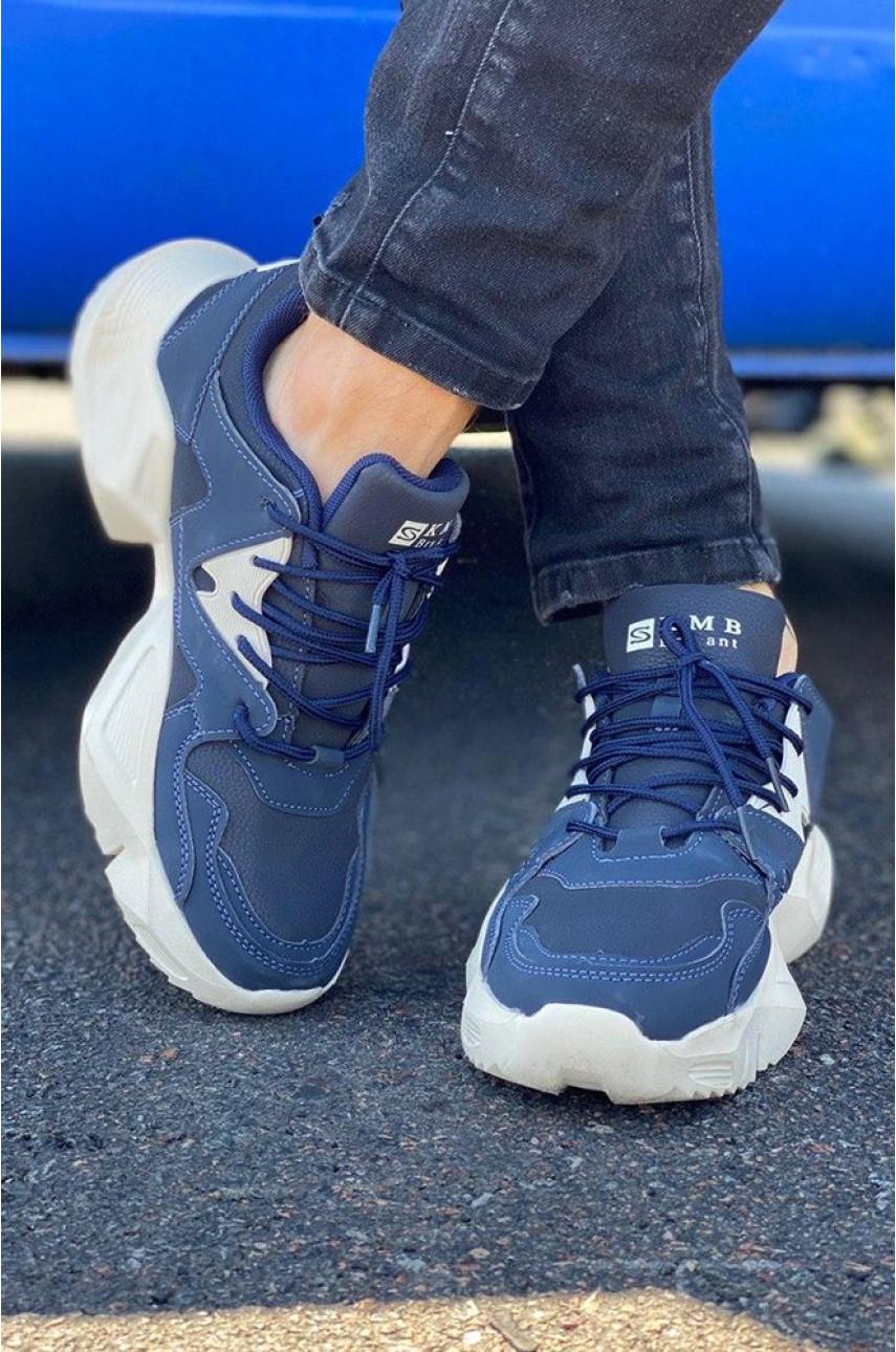 Кроссовки женские темно-синие 308-4