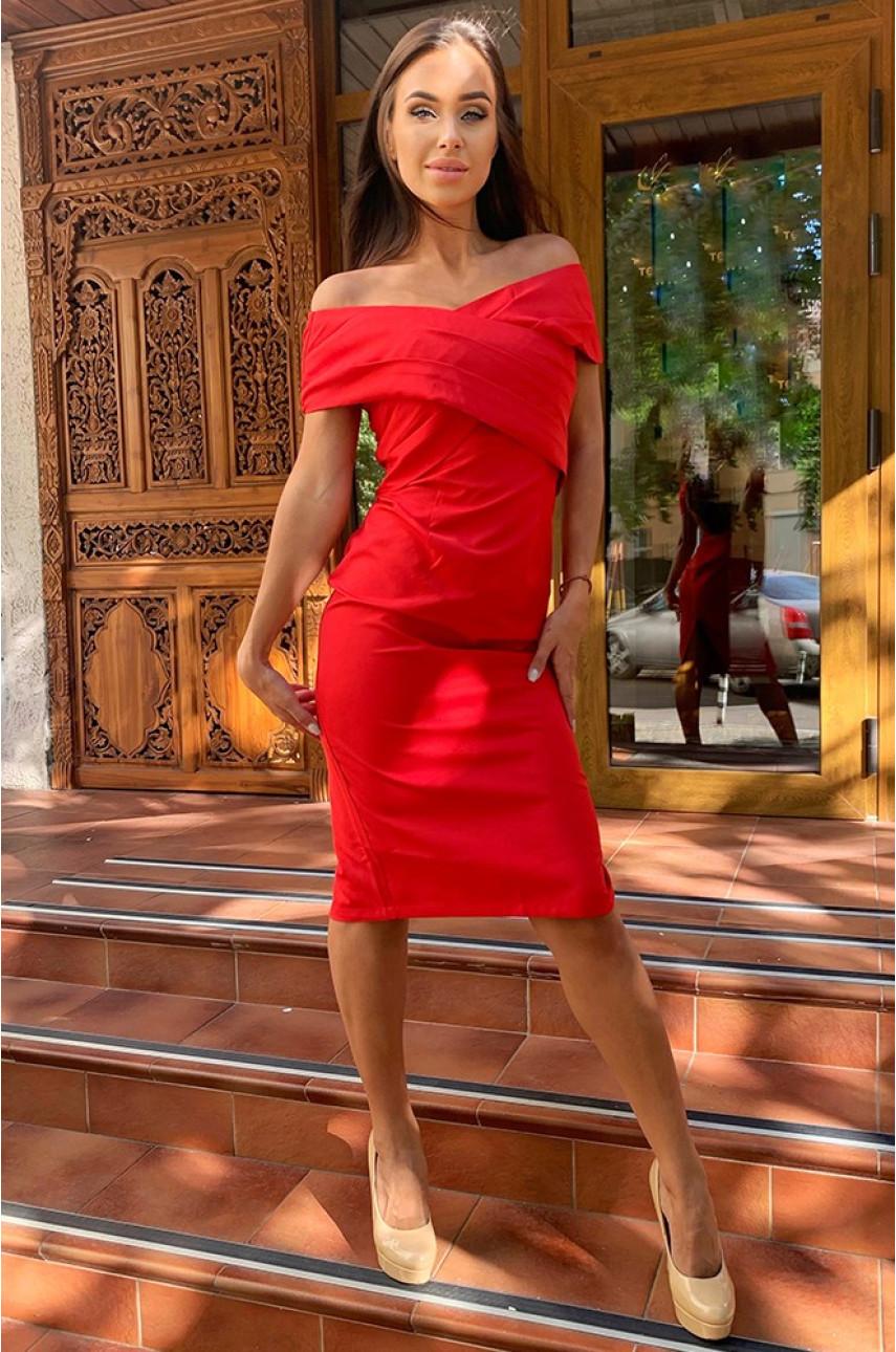 Женское платье красное 2793