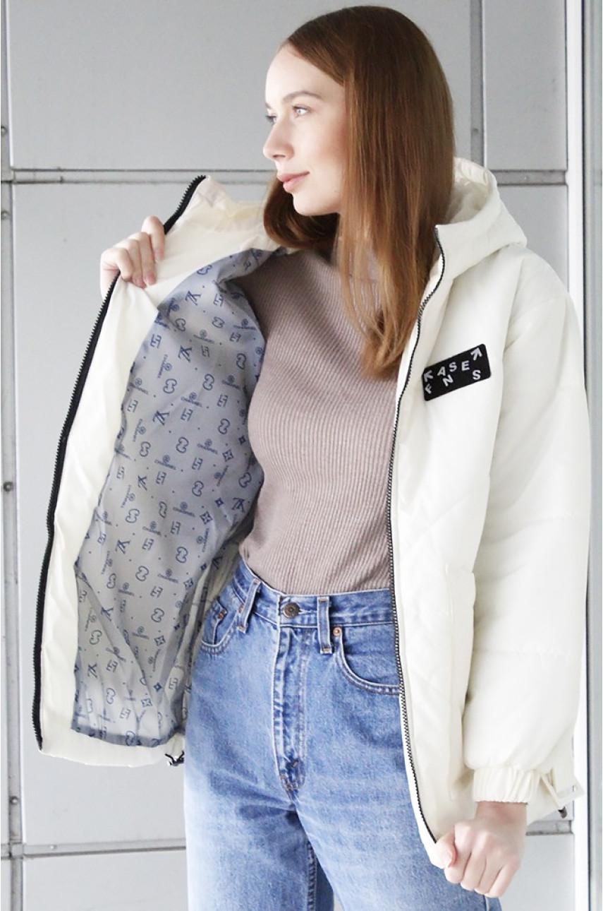 Куртка демисезонная подростковая девочка молочная