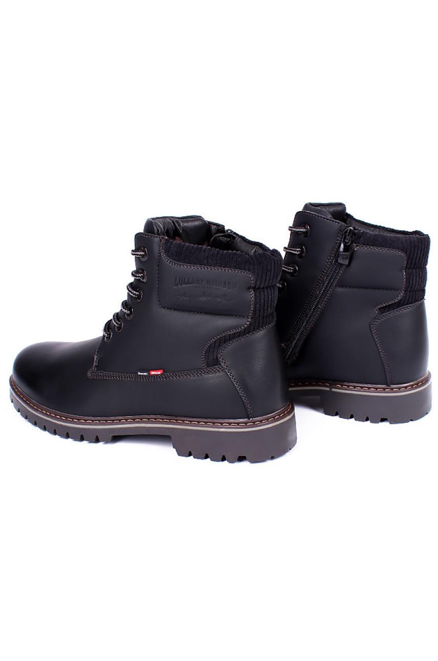 Ботинки зимние мужские черные 9011