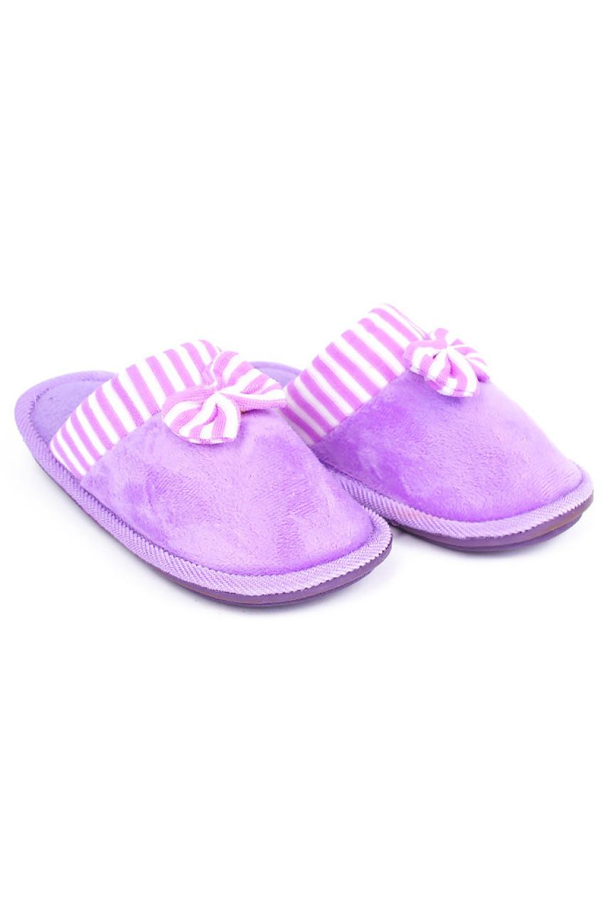 Тапочки комнатные девочка фиолетовые с-25-1