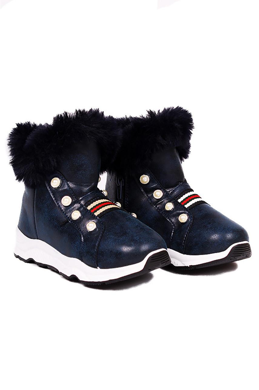 Ботинки детские девочка темно-синие 6049-2