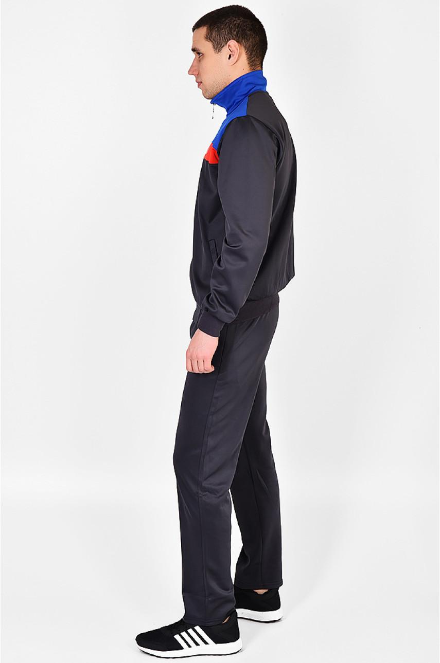 Спортивный костюм мужской темно-серый с синим К-01