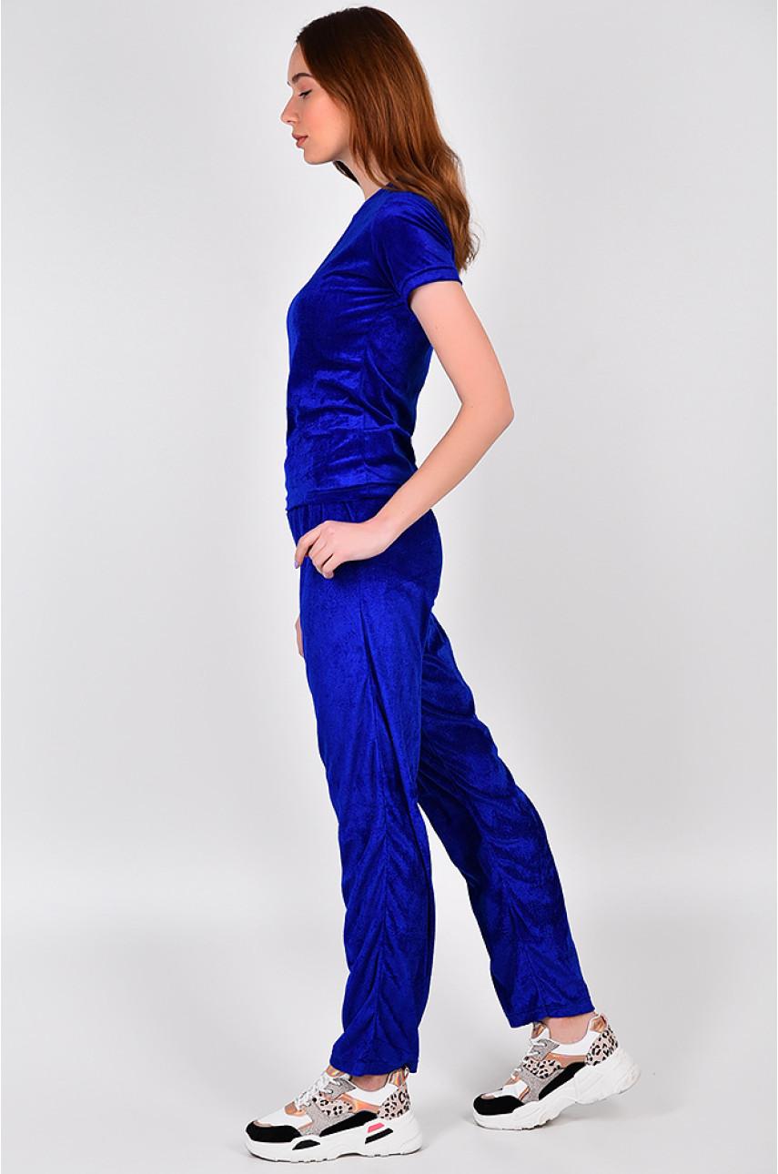 Костюм женский синий V-02