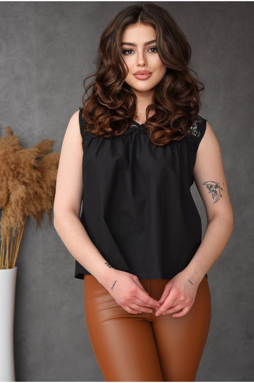 Блуза женская черная размер М 3177