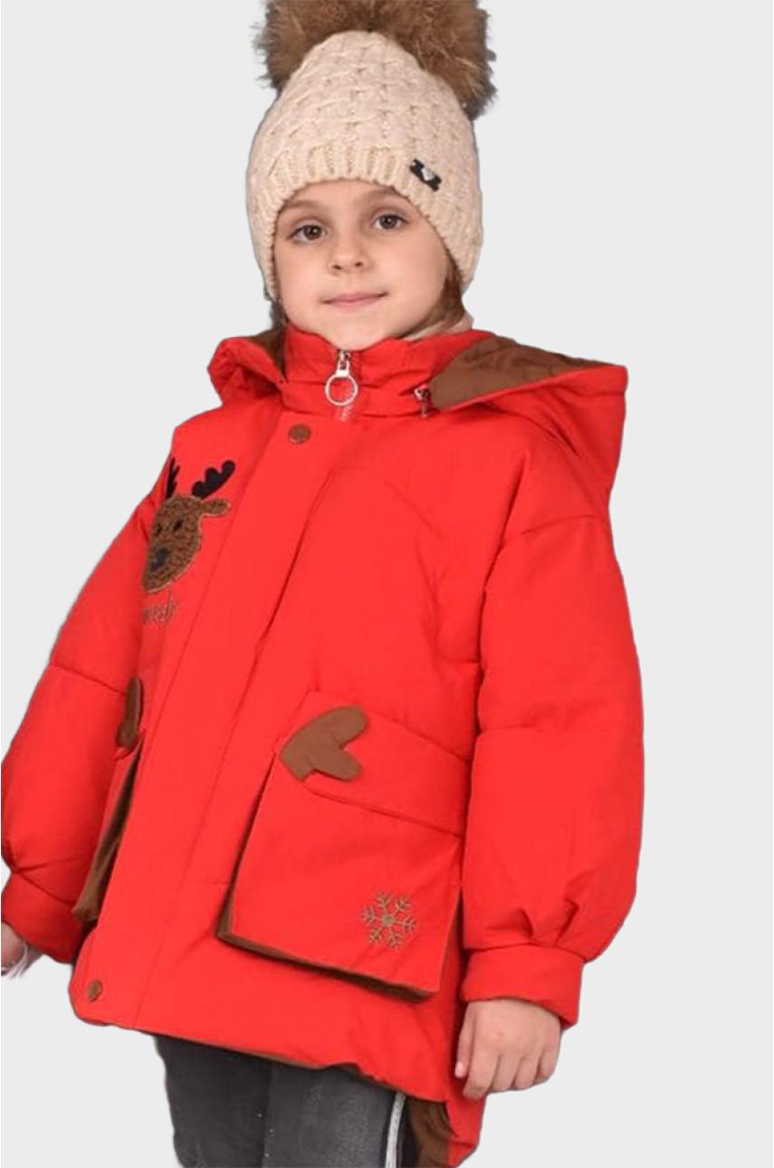 Куртка детская красная С-21