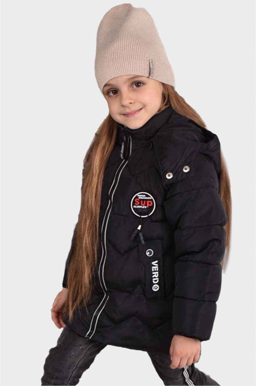 Куртка детская черная С-4