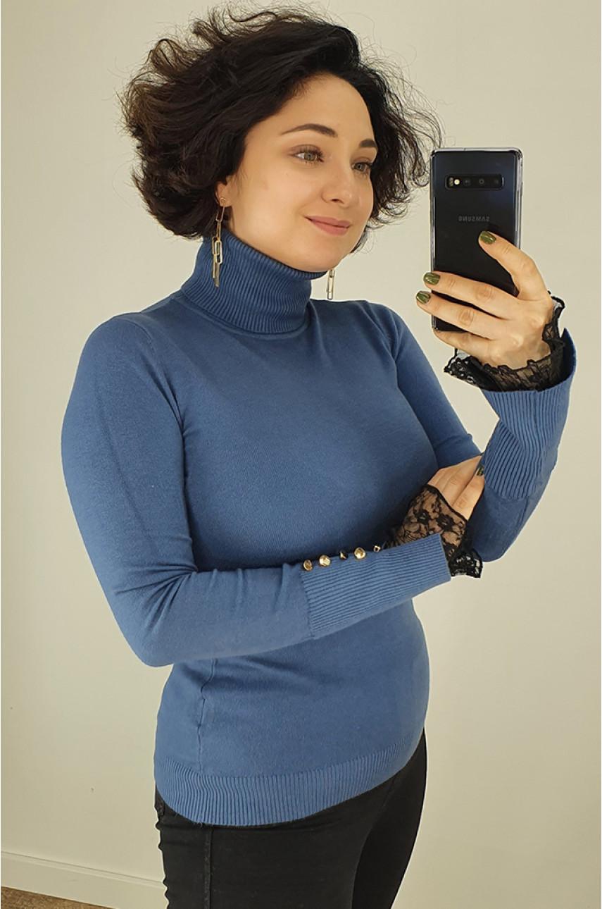 Гольф женский синий W9059