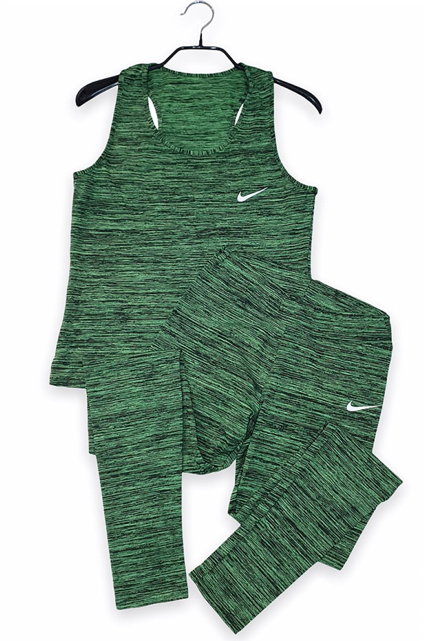 Костюм спортивный женский зеленый 0001