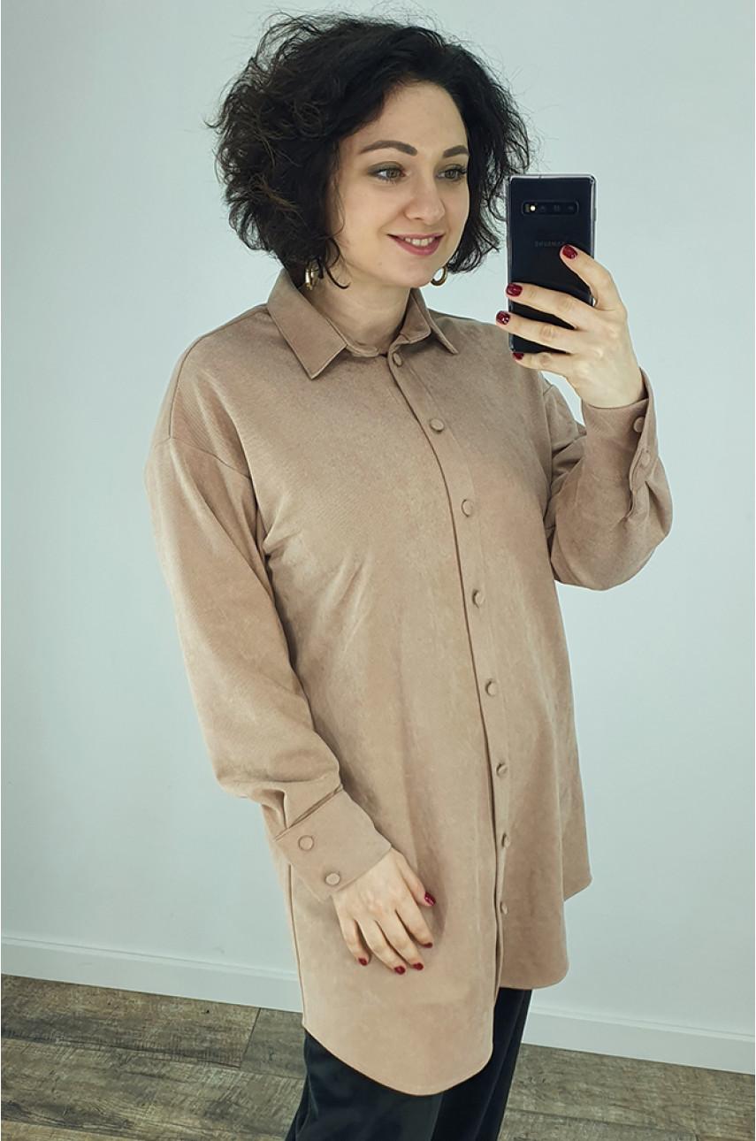 Рубашка женская бежевая 0423