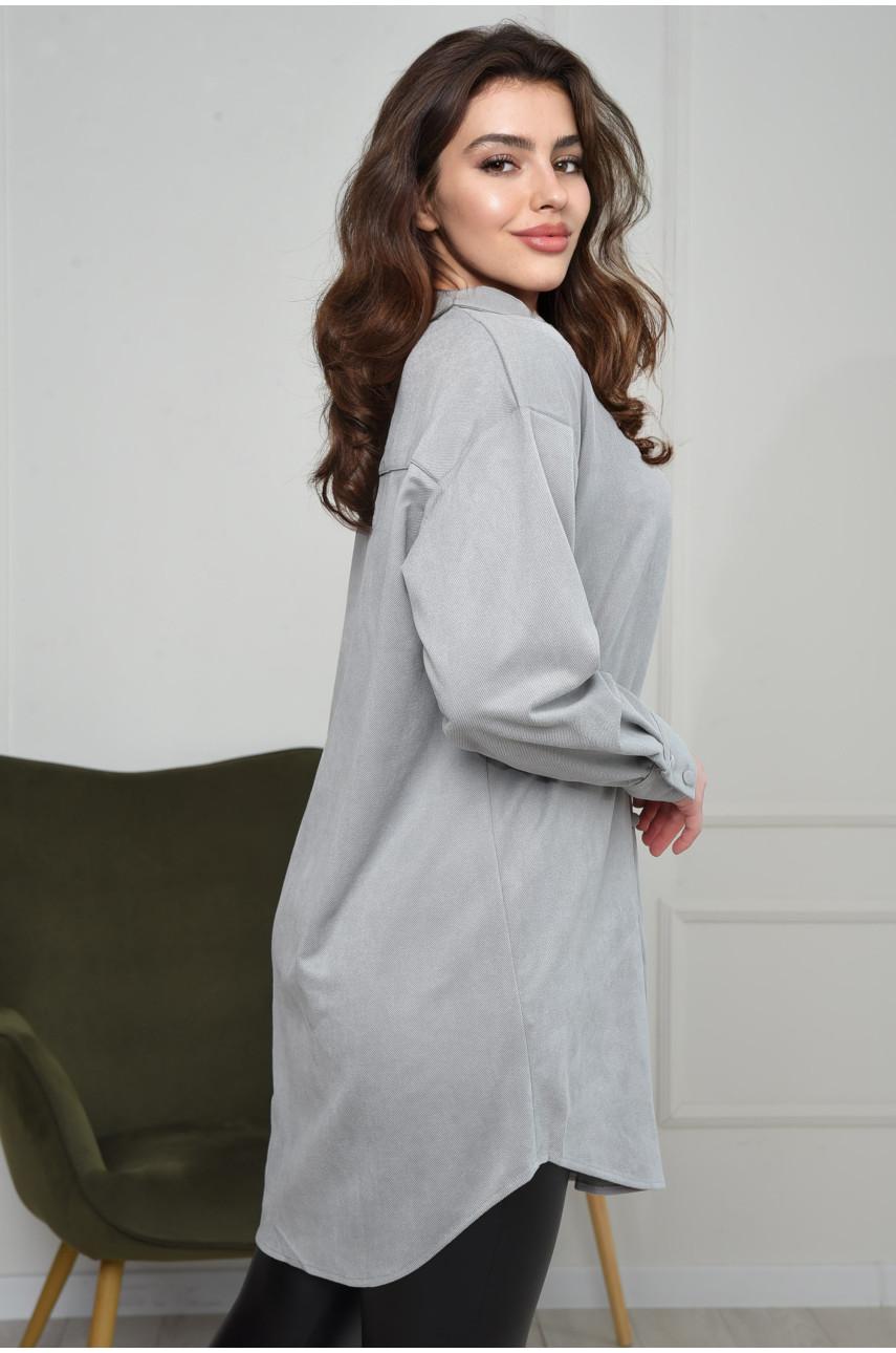 Рубашка женская серая 0423