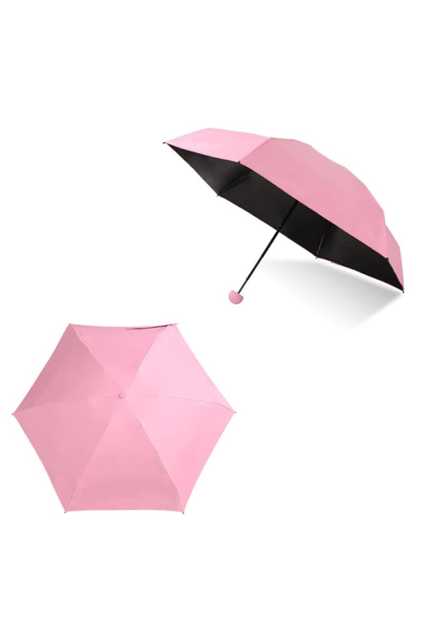 Мини-зонт в футляре Капсула розовый