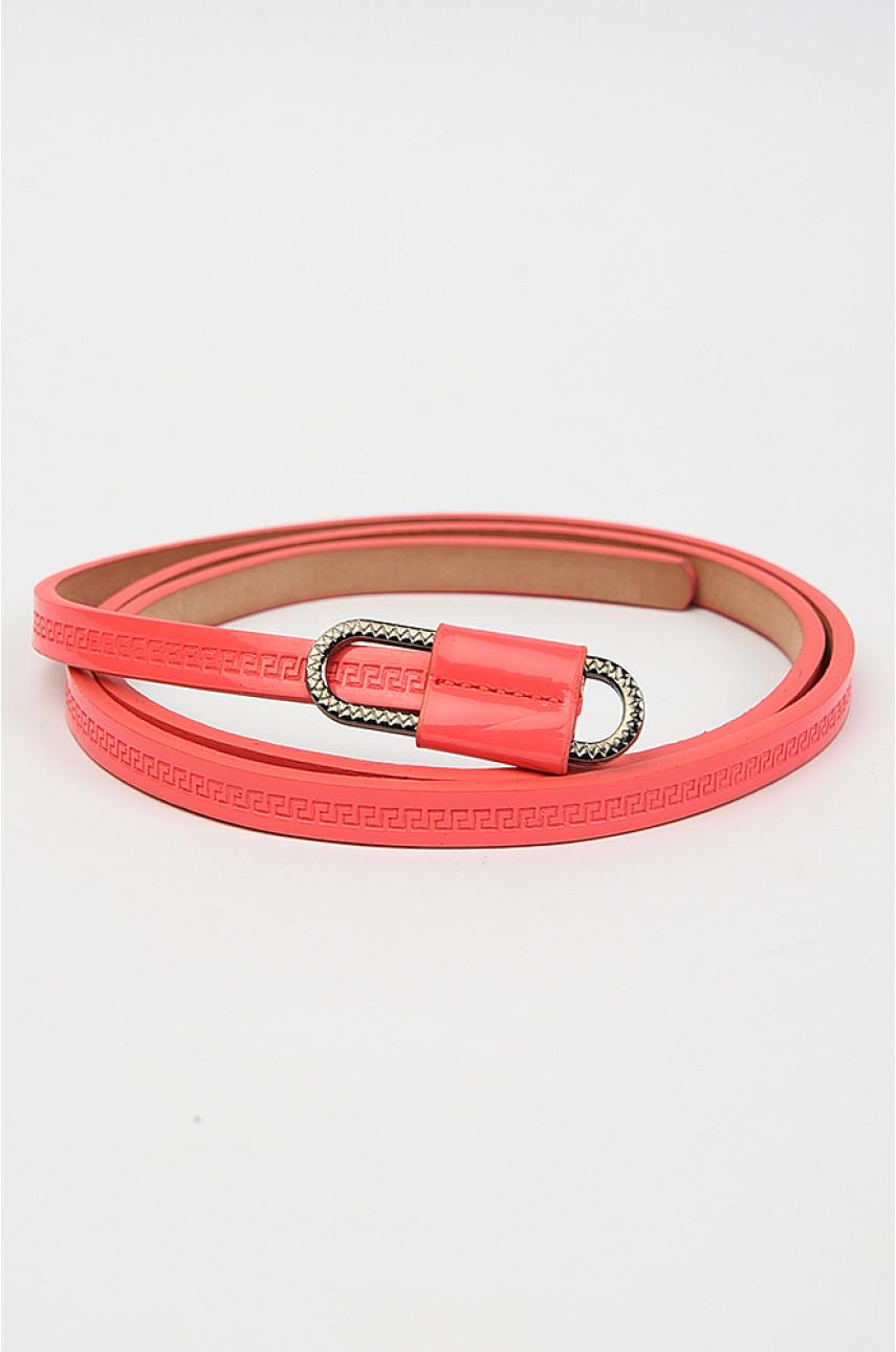 Ремень женский розовый размер 107 см