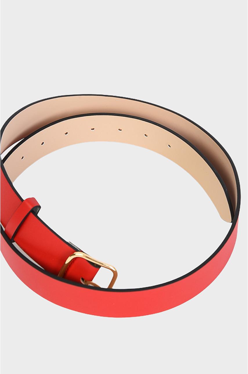 Ремень женский красный 105 см