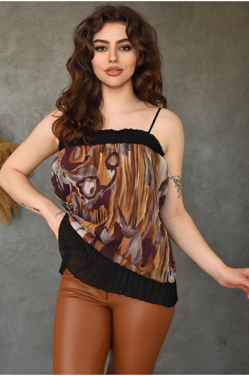 Туника женская коричневая 501-2