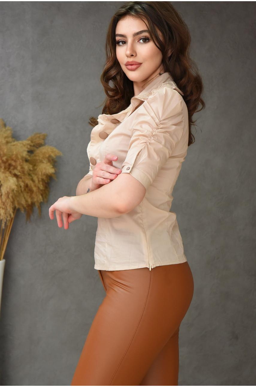 Блуза женская бежевая 0206-1