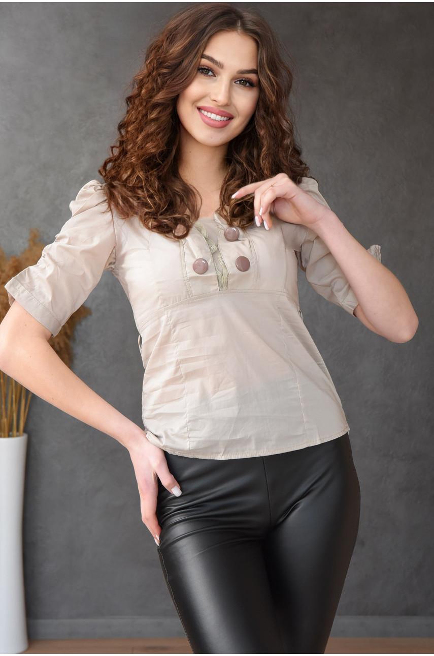 Блуза женская светло серая 0206-2