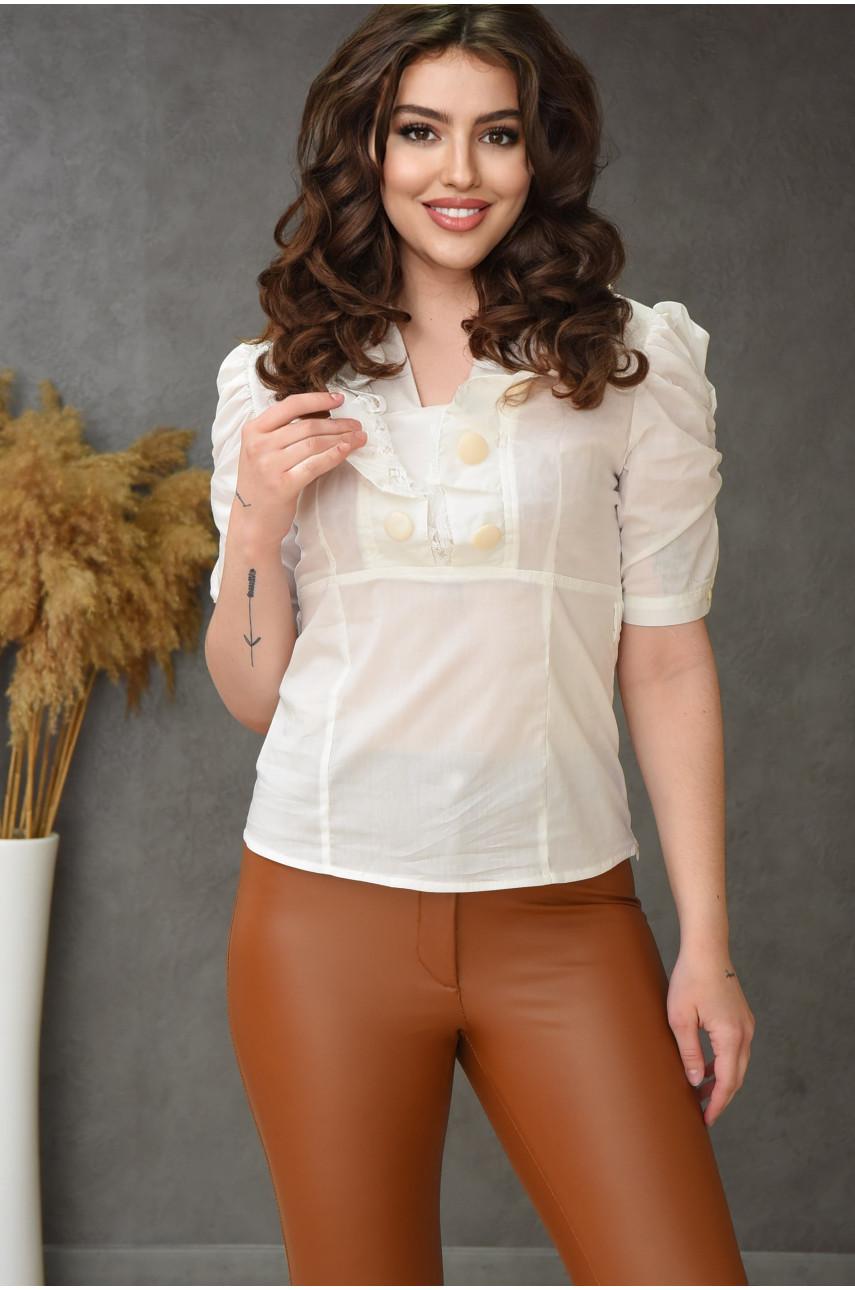 Блуза женская молочная 0206-3