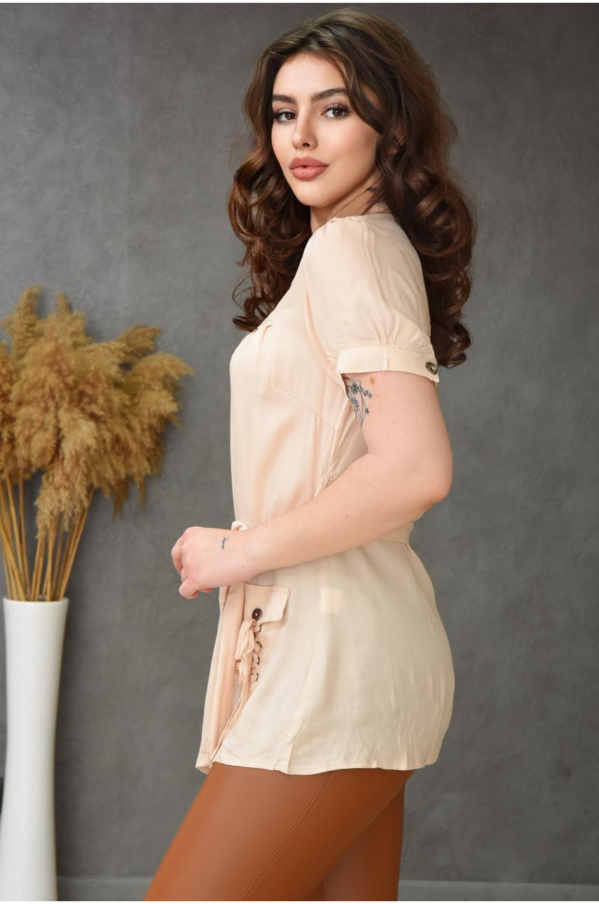 Блуза женская бежевая 0232