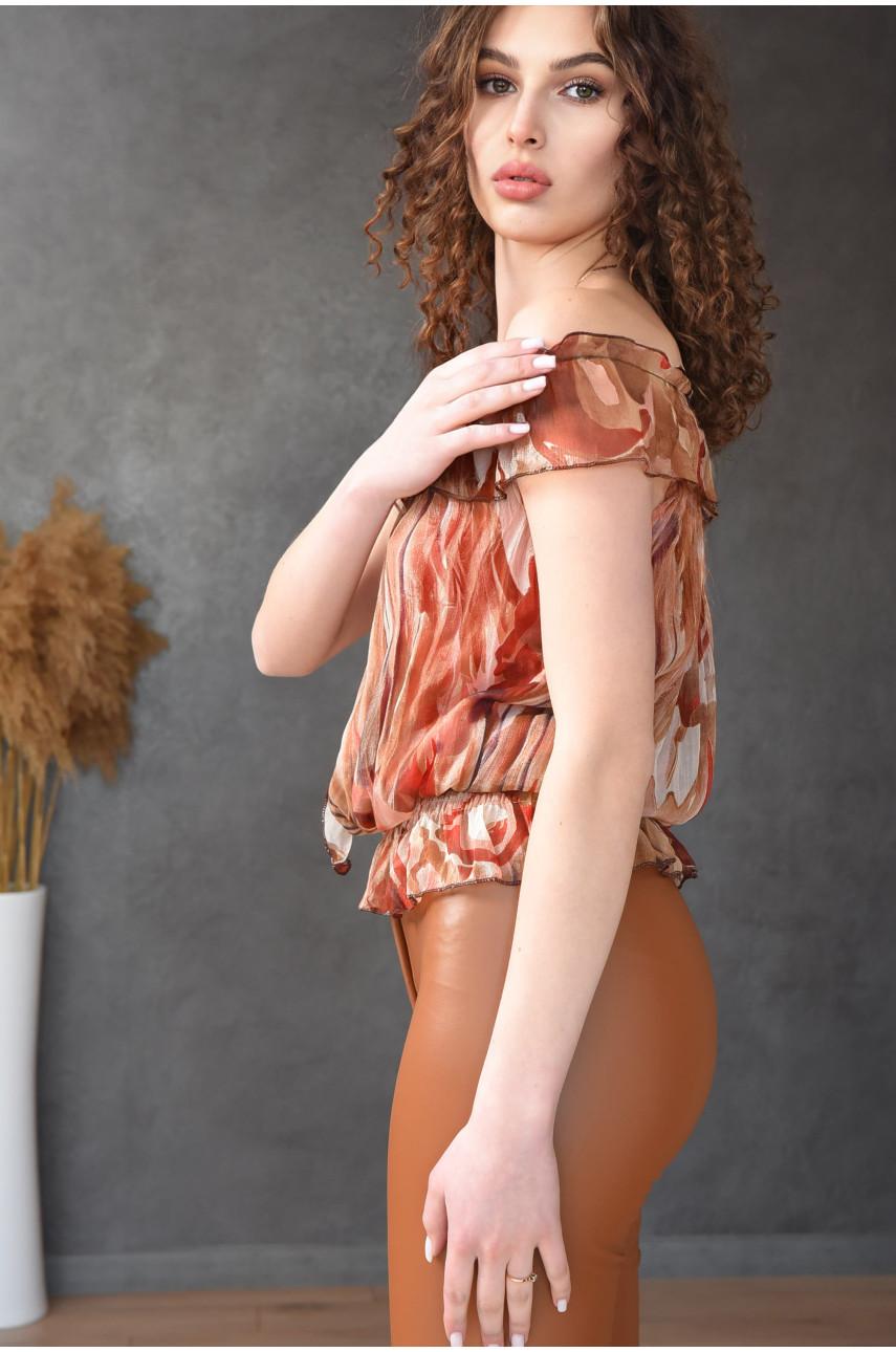 Блуза женская коричневая размер 42-44 9923-2