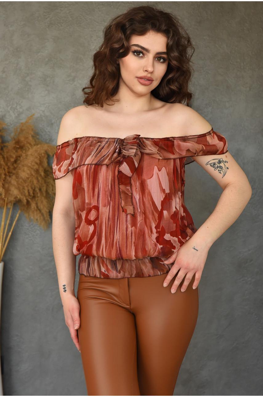 Блуза женская теракотовая размер 42-44 9923-3