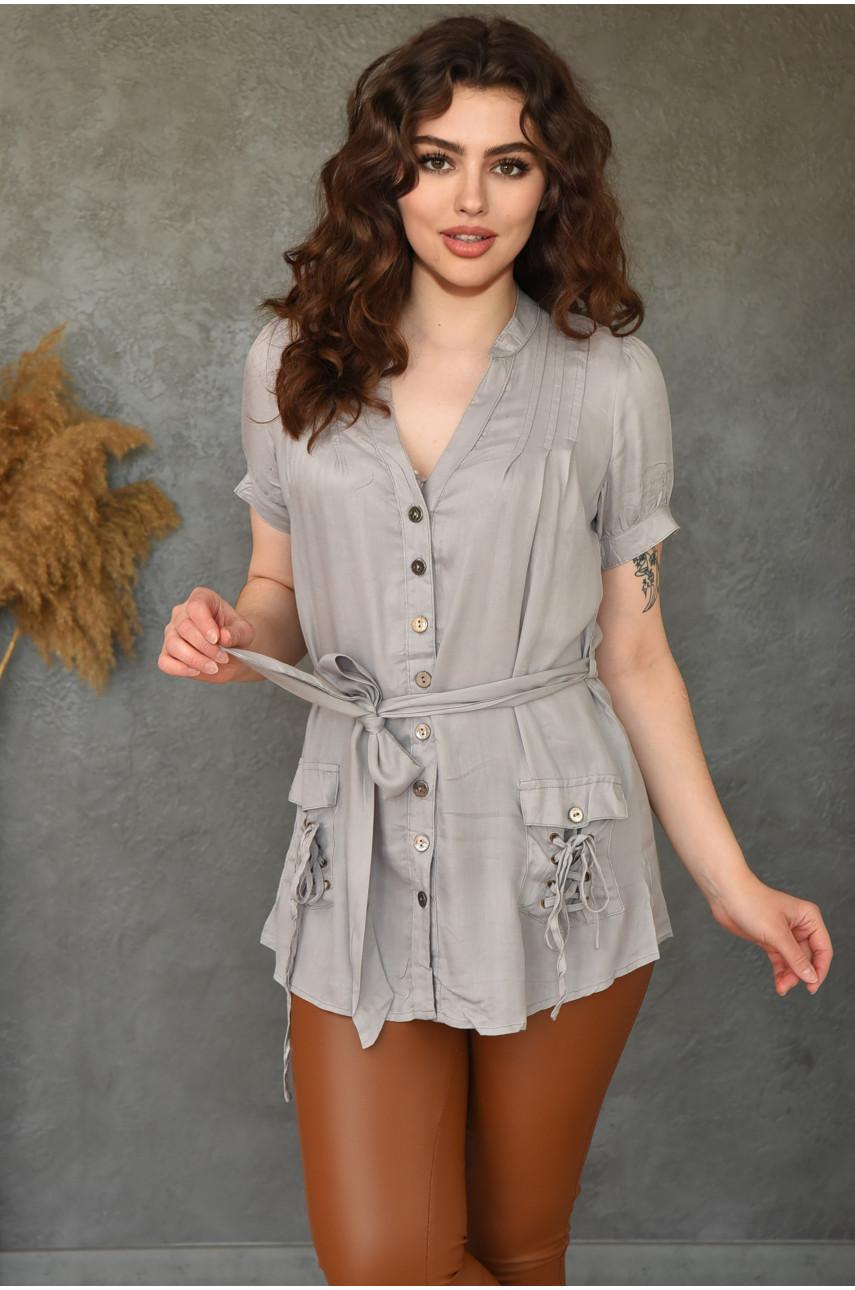 Блуза женская серая 0232-1