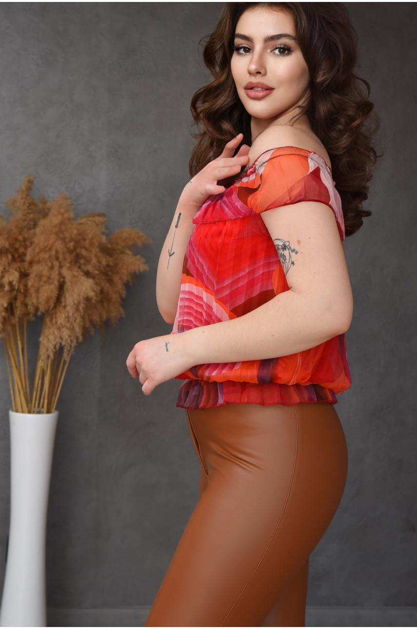 Блуза женская красная размер 42-44 9923-5