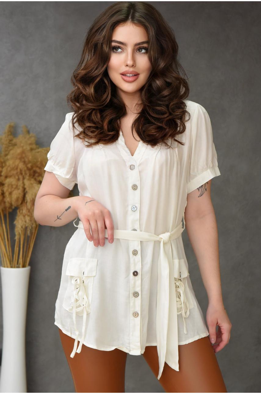 Блуза женская молочная 0232-1