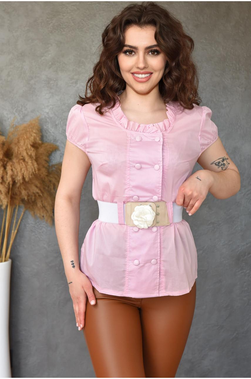 Блуза женская светло розовая 0207