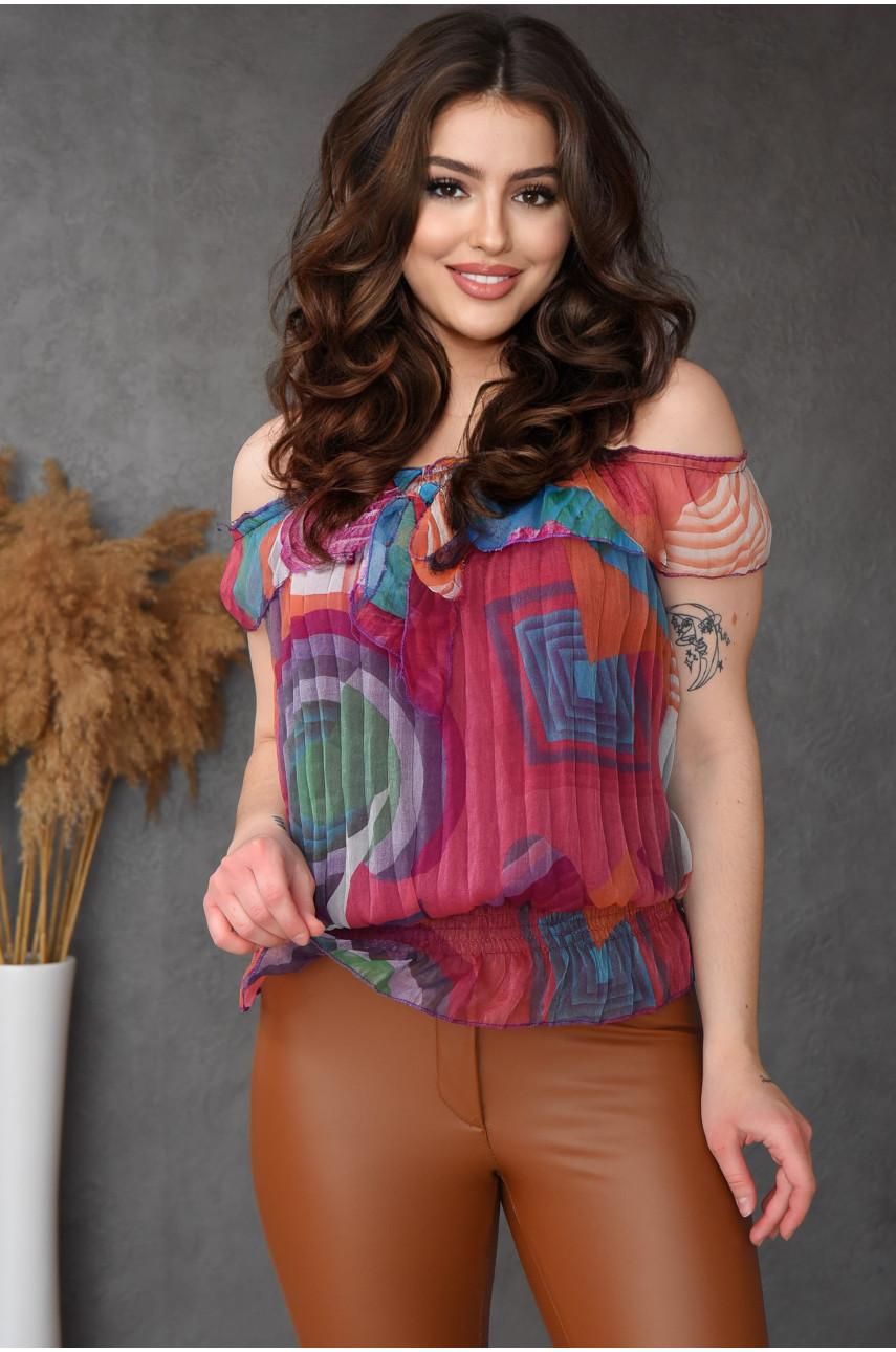 Блуза женская бардовая размер 42-44 9923-7