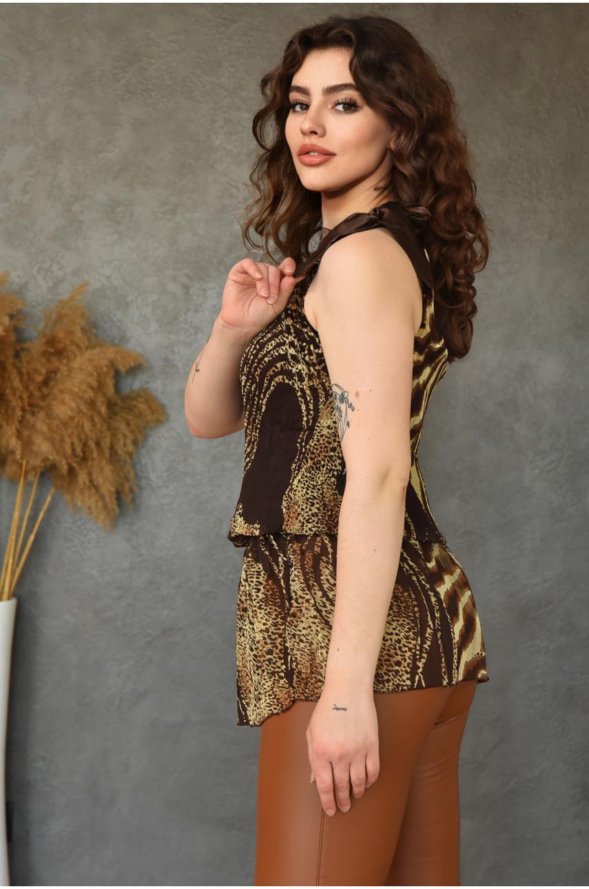 Туника женская темно-коричневая размер 42-44 13599-6