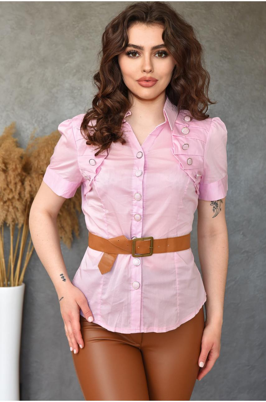 Блуза женская розовая 0208-5