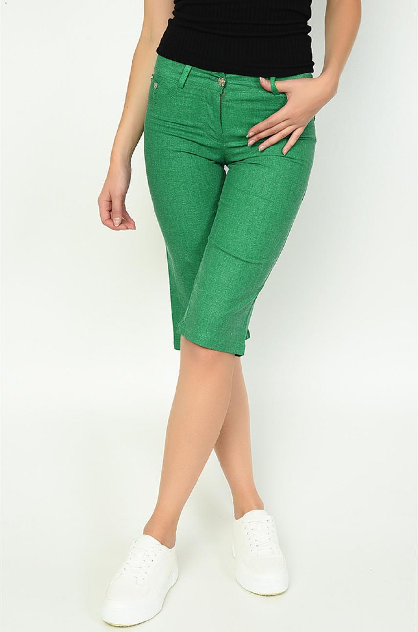 Бриджи женские зеленые Уценка 0026-2