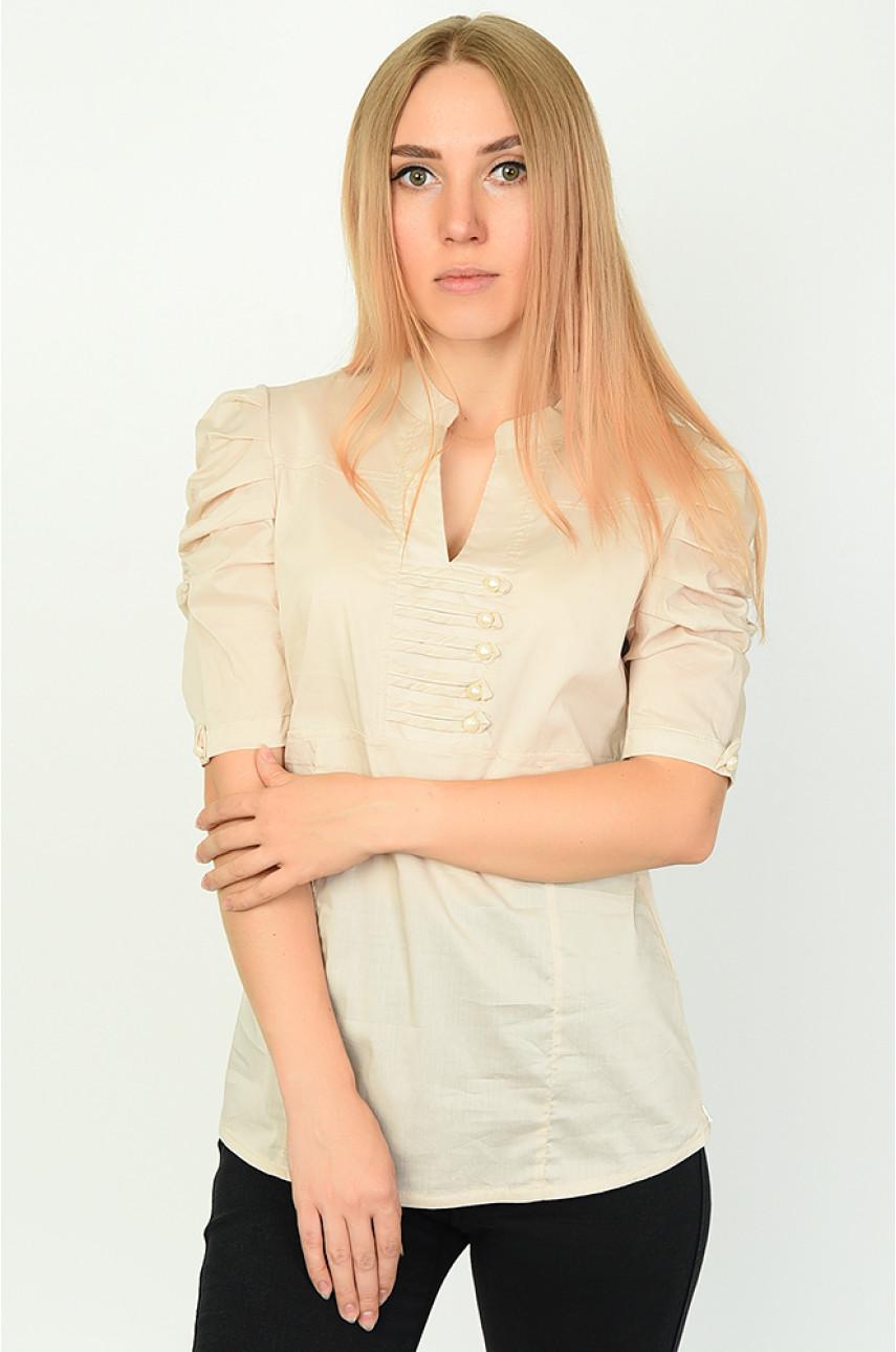 Блуза женская бежевая 0209-2