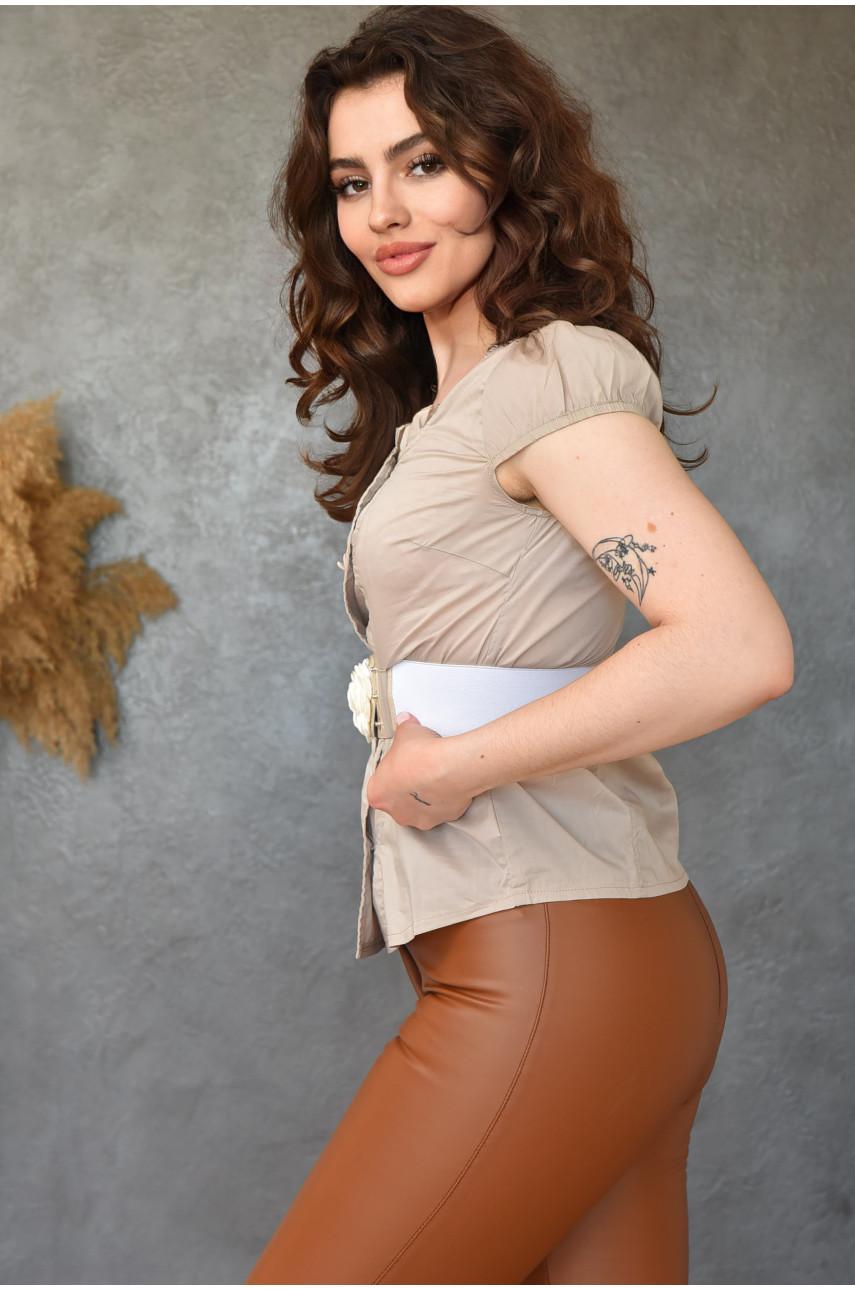 Блуза женская темно-бежевая 0207-4