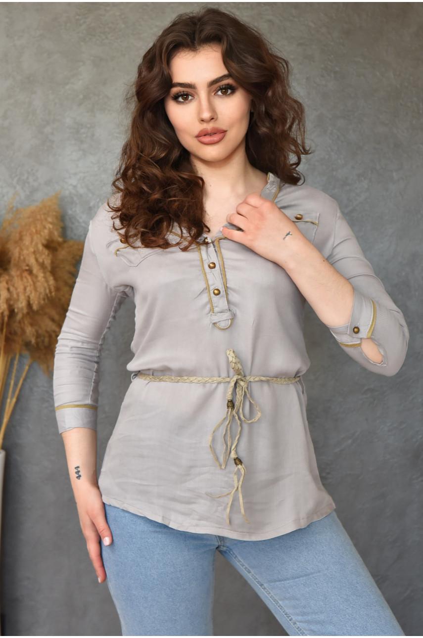 Блуза женская серая 0229-4