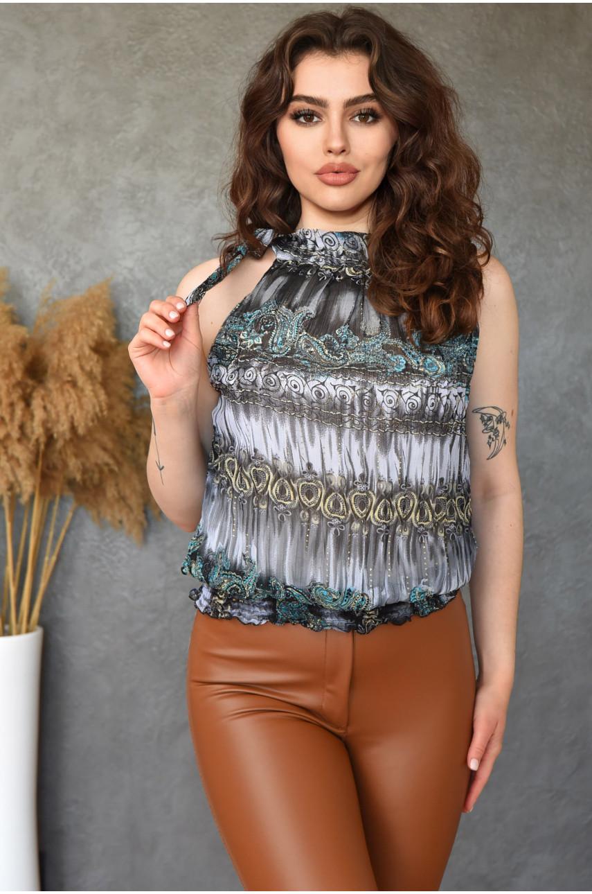 Блуза женская серая 8599-1