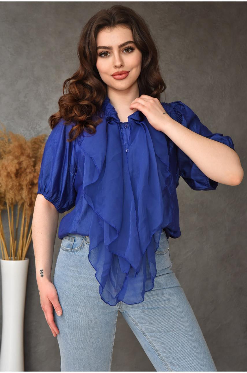 Блуза женская синяя размер 44-46 990