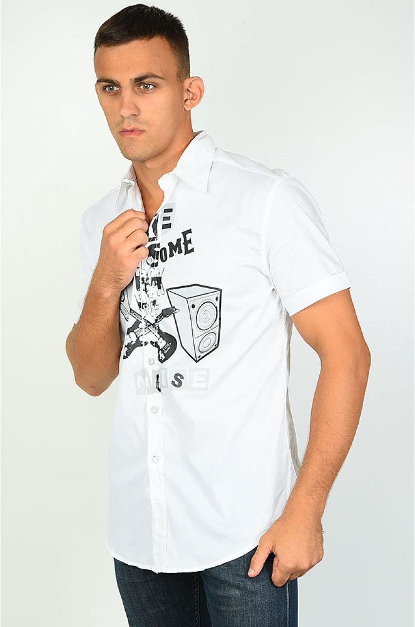 Рубашка мужская белая 1860