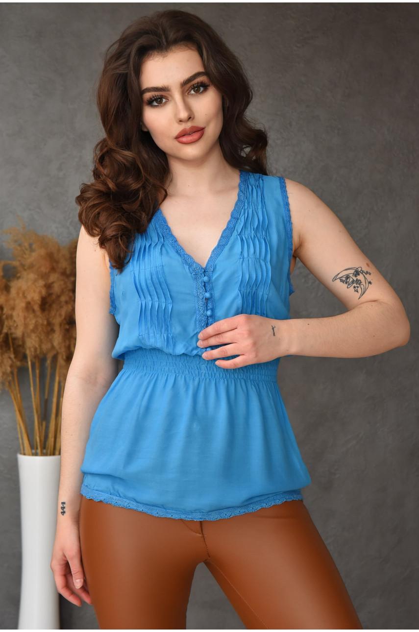 Туника женская голубая 0048-1