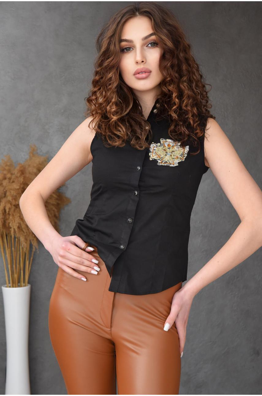 Рубашка женская черная 070-3