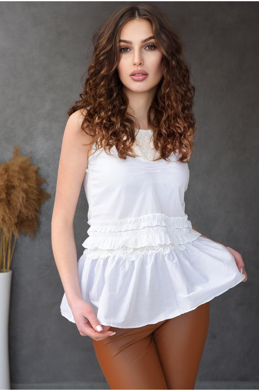 Блузка женская белая 8039