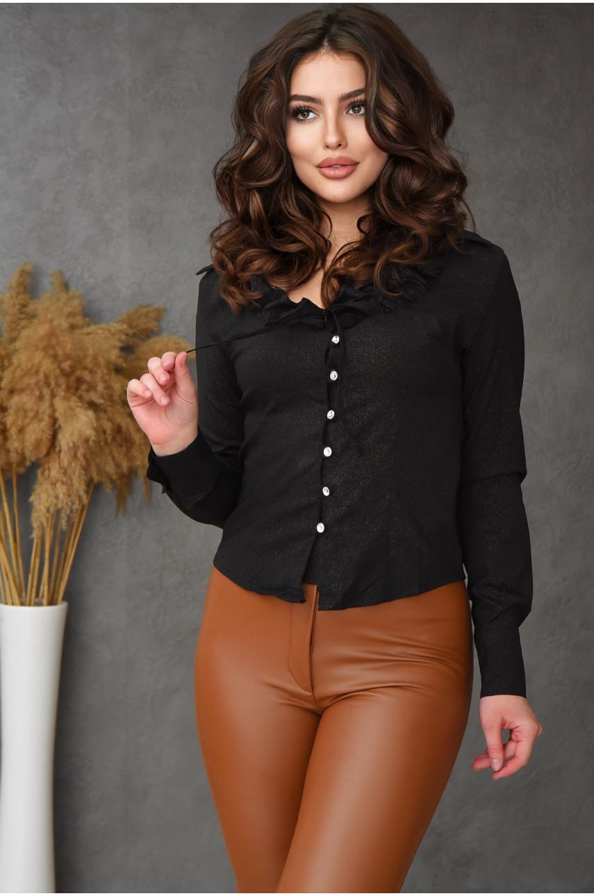 Блуза женская черная 8002-1