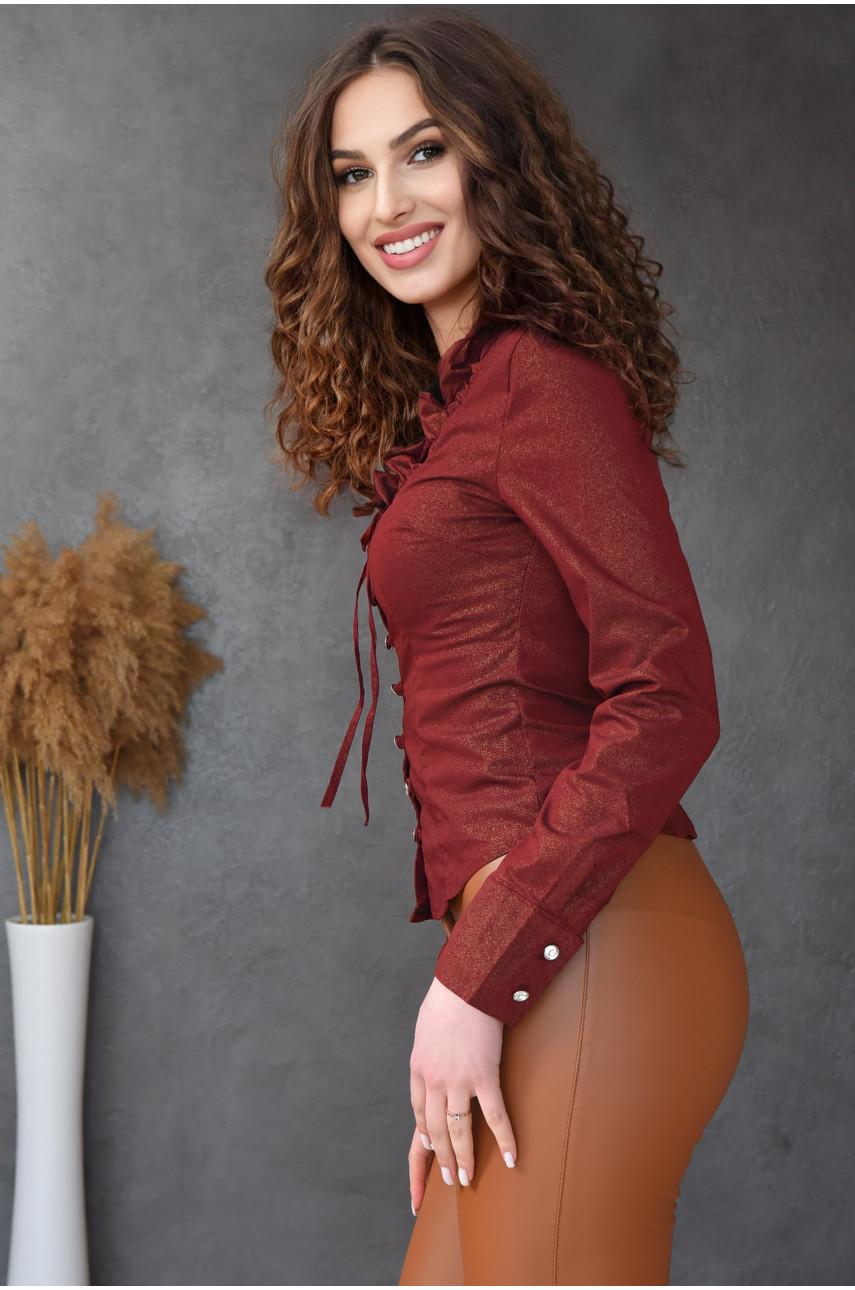 Блуза женская бордовая 8002-2