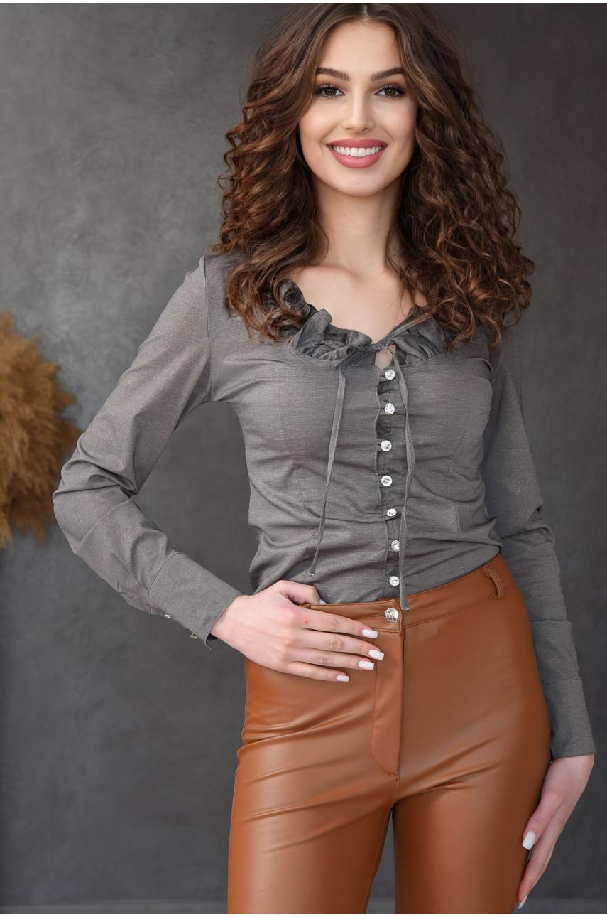 Блуза женская серая 8002-3