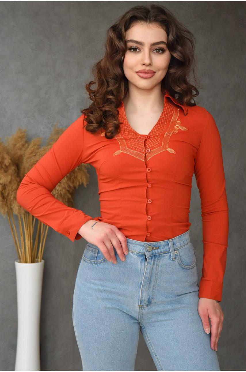 Блуза женская теракотовая 935-1