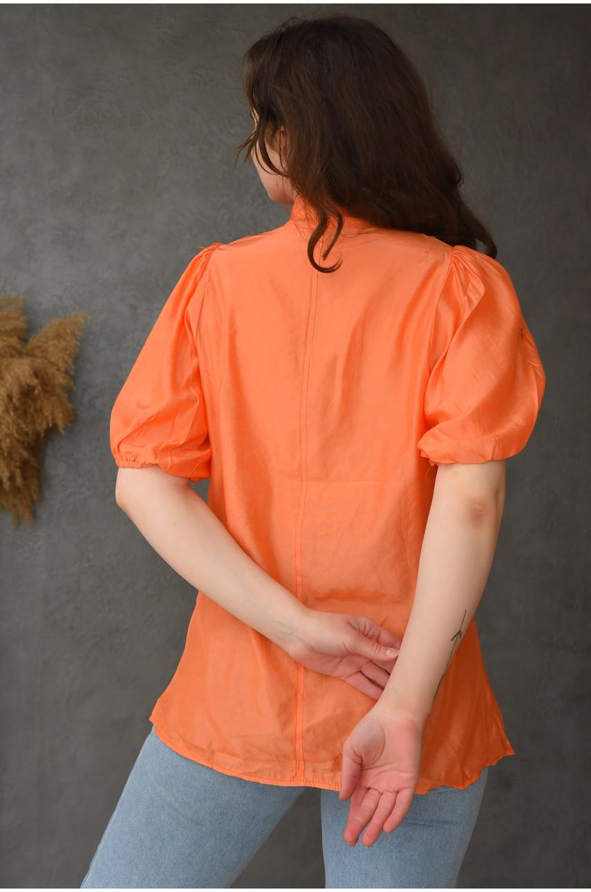 Блуза женская оранжевая 099