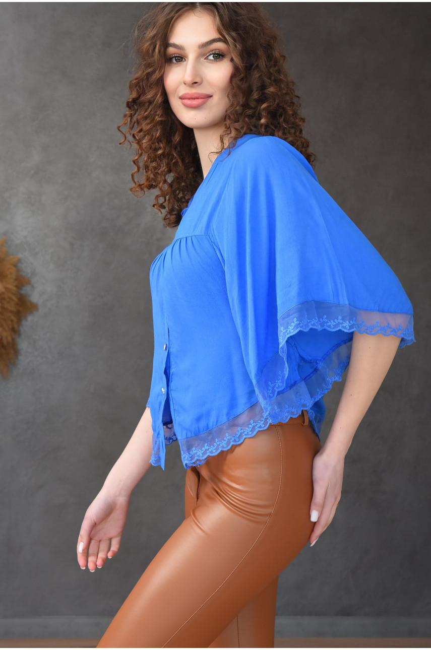Блуза женская синяя 8008-2