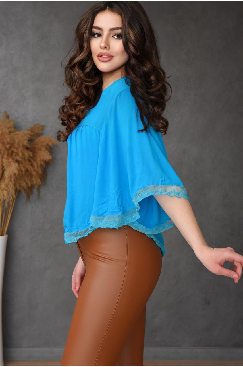 Блуза женская голубая 8008-5
